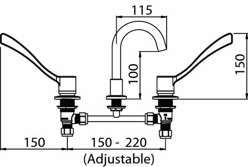enware-lev150306-lever-sink-faucet-line-drawing