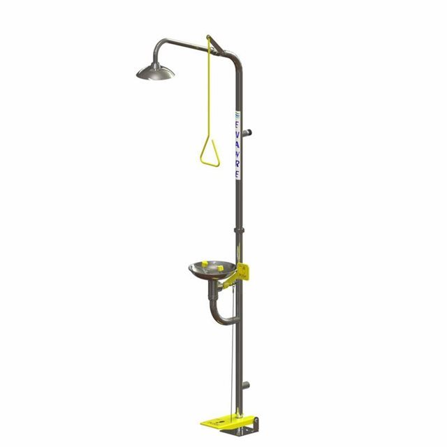 Freestanding Safety Shower with Hand/Foot  Operated Eye Wash